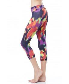 Balance Fit Wear Wild Paint Foldover Legging