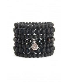 Blooming Lotus Jewelry Black Lotus Stack Bracelet