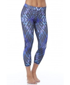 Electric & Rose Blue Tie Dye Shell Legging