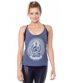 Spiritual Gangster Free Blue Buddha Mandala Tank