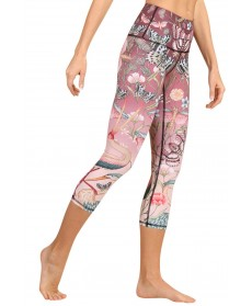 Yoga Democracy Pretty in Pink Cropped Legging