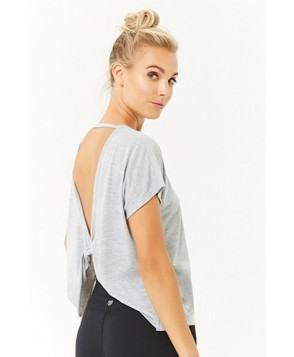 Forever 21  Active Twisted Back Cutout Top