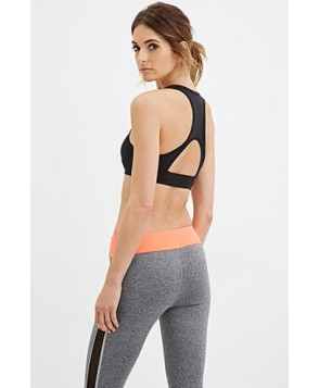 Forever 21 High Impact - Cutout Racerback Sports Bra