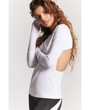Forever 21 Active Mesh-Panel Racerback Top