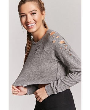 Forever 21  Active Distressed Sweatshirt