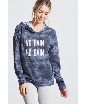Forever 21 Active No Pain No Gain Hoodie