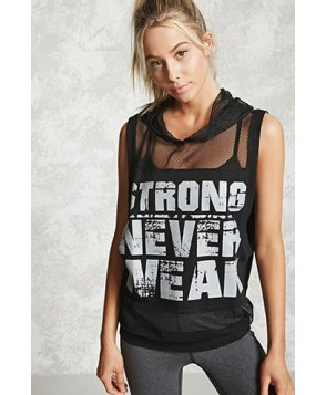 Forever 21 Active Strong Never Weak Top