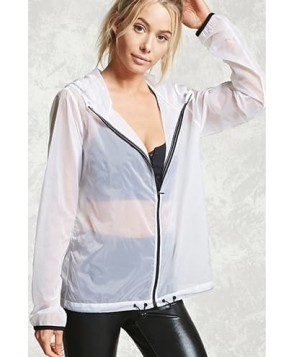 Forever 21 Active Hooded Windbreaker