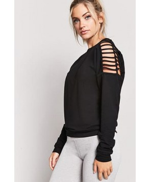 Forever 21 Active Ladder Cutout Top