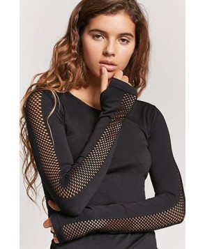 Forever 21 Active Mesh-Panel Top