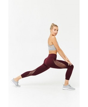 Forever 21  Active Mesh Capri Leggings