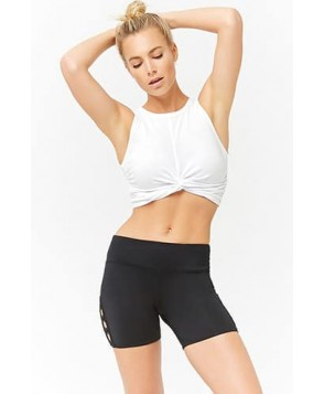 Forever 21 Active Twist-Front Crop Top