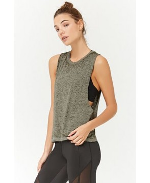 Forever 21 Active Heathered Burnout Tank Top