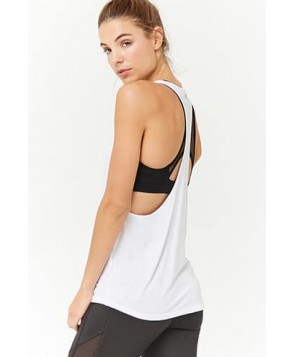 Forever 21 Active Heathered Racerback Tank Top