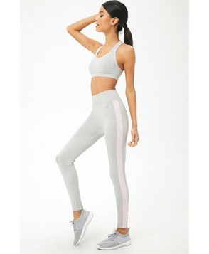 Forever 21  Active Marled Striped Leggings