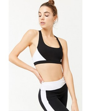 Forever 21  Medium Impact - Colorblocked Sports Bra