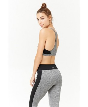 Forever 21  Medium Impact - Marled Sports Bra