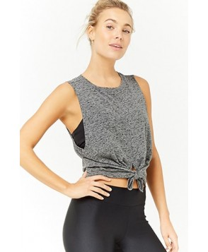 Forever 21  Active Tie-Front Muscle Tee