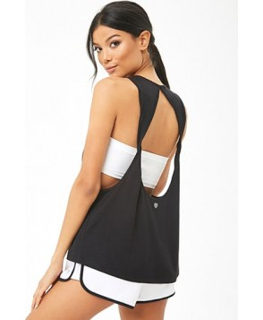 Forever 21  Active Back Cutout Muscle Tee