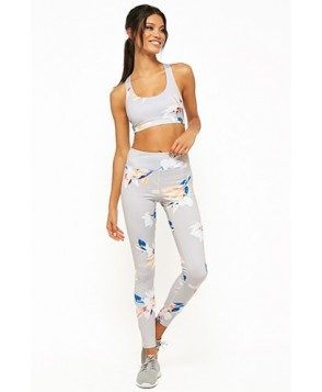 Forever 21  Active Tropical Floral Print Leggings