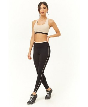 Forever 21  Active Contrast Piping Leggings