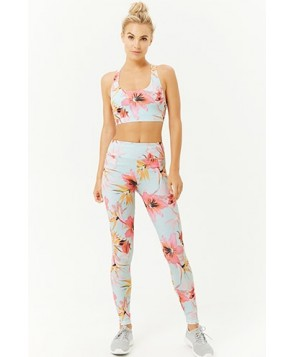 Forever 21  Tropical Floral Leggings