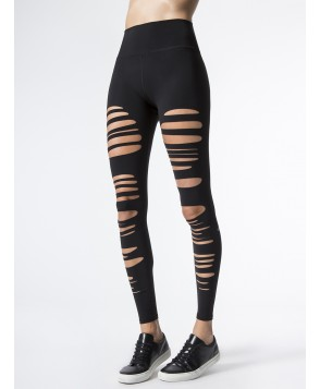 Carbon38 High-Waist Extreme Ripped Legging