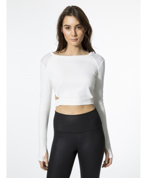 Carbon38 Crop Rib Top