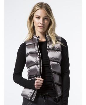 Carbon38 Zip-Front Mesh Inset Vest