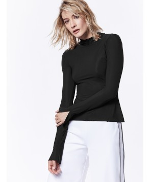 Carbon38 Mock Neck Long Sleeve