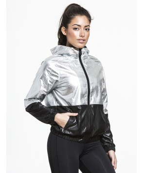 Carbon38 Metallic Woven Jacket