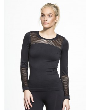 Carbon38 The Seamless Mesh Top