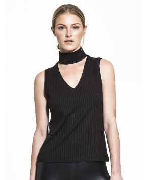 Carbon38 Sleeveless Detached Turtleneck