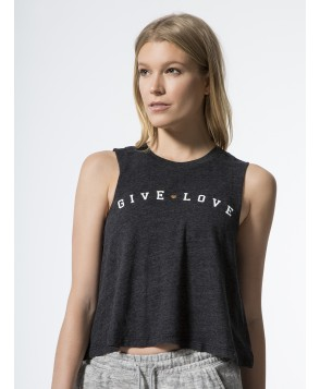 Carbon38 Give Love Crop Tank