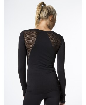 Carbon38 Long Sleeve Seamless Top