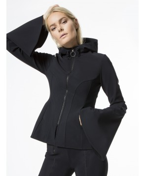 Carbon38 Molded Peplum Zip Up Jacket