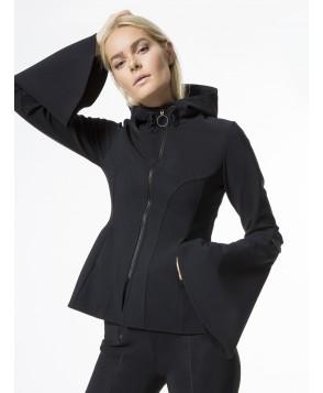 Carbon38 Molded Peplum Zip Up Jacket