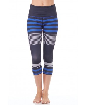 Anjali Linear Stripe Float Crop Legging