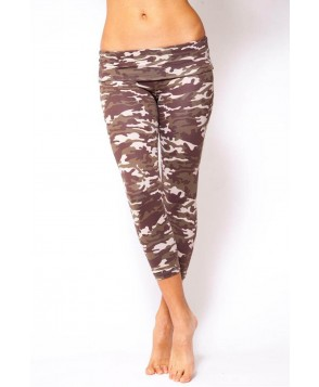 Balance Fit Wear Camo Brown Fold Over Capri