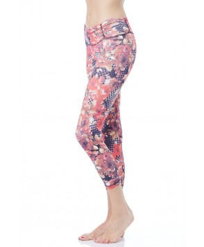 Balance Fit Wear Red Flower Legging