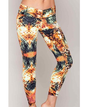 Balance Fit Wear Reptile Orange Renaissance Legging
