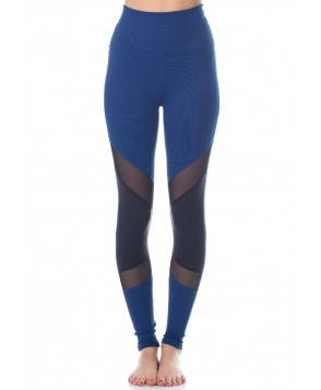 Beyond Yoga Art Deco Paneled High Waist Long Legging