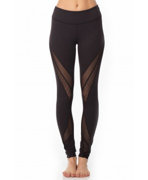 Beyond Yoga Polka Dot Mesh Converged Long Legging