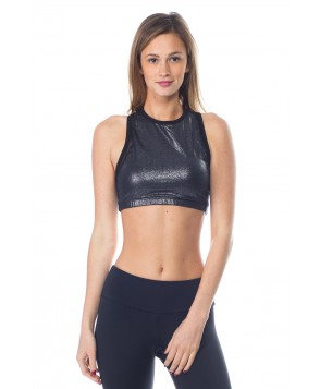 Beyond Yoga Shimmer and Shine Mesh Bra