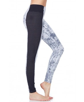 Blue Life Fit Perforated Contrast Legging