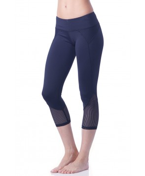 Chichi Active Demi Mesh Panel Capri