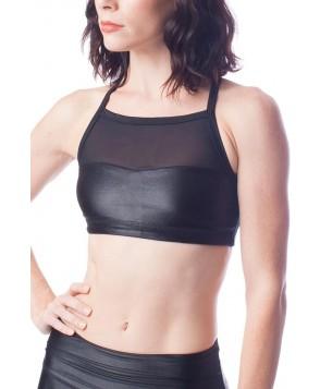 Emily Hsu Designs Black Silken Mesh Bra