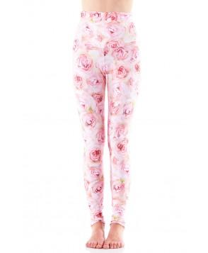 Emily Hsu Pink Roses Long Legging