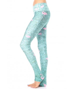 Goldsheep Green Flamingo Legging