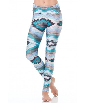 Goldsheep Teal Navajo Steps Long Legging